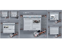 展示汽車網站模板