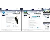 白色商务展示网页模板