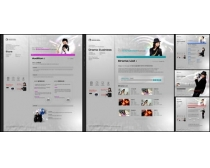 灰色魔幻效果网页模板