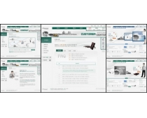 商务城市白色背景网页模板