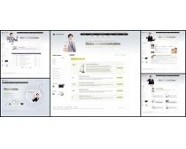 商业男人白色系网页模板