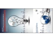 灯泡与地球矢量素材