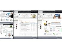 商务白色设计网页模板