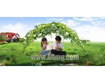 绿色儿童世界图片模板素材