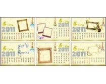 2011年边框日历设计矢量素材