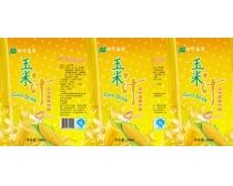 玉米汁包裝廣告設計PSD素材