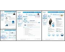 白色展示效果网页模板图片