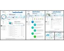 白色系列网页络科技网页模板