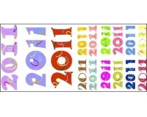 可爱的2011字体设计矢量素材