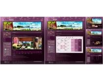 紫色設計環境網頁模板