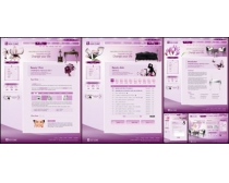 紫色特色風格網頁模板