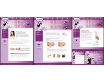 瘦身女性網頁模板