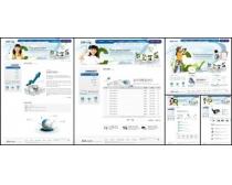 韩国白色儿童模板网页设计