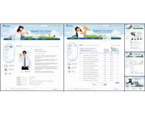 国外产品白色设计网页模板