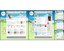 韩国唯美设计网页模板