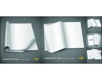 空白书本纸张矢量素材