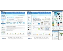 白色效果数码网页模板设计