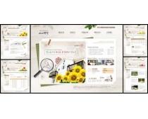 别墅风光网页设计模板