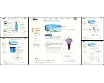 韩国设计展示网页模板