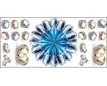 钻石戒指矢量素材