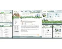 商业绿色设计网页模板