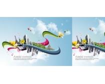 都市风情创意设计PSD分层模板