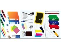 办公用品标签设计矢量素材
