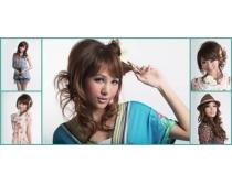 时尚发型设计图片素材