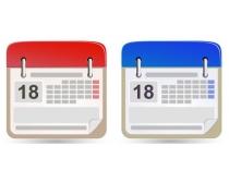 日历模板设计矢量素材