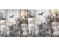 王洲工笔花鸟国画高清图片素材