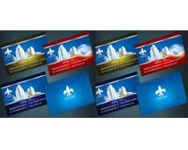 建筑地产行业名片设计PSD素材