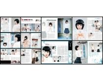 清纯女孩时尚杂志版式设计PSD模板