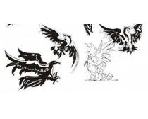 超酷鹰纹身动物矢量素材