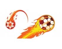 多款火焰足球矢量素材