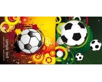 潮流时尚足球主题矢量插图
