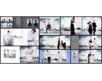 威尼斯水岸婚纱照影楼模板