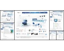 韩国科技蓝色系网页设计模板