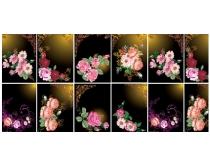 唯美欧式花纹花卉背景矢量素材