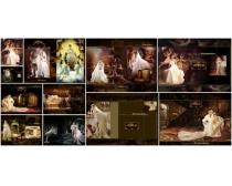 伊利莎跨页婚纱PSD模板