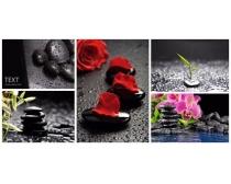 黑色 素材/黑色水疗石高清图片