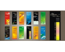 创意灯旗展架展板设计矢量素材