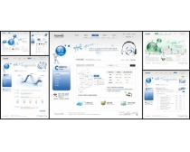 科技蓝色韩国网页模板