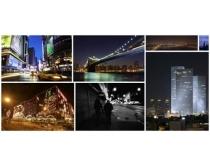 高清城市夜空图片素材