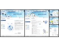 企业蓝色风格网页模板