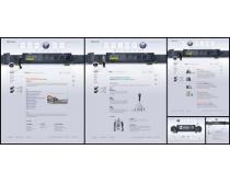 灰色商業建筑網頁模板