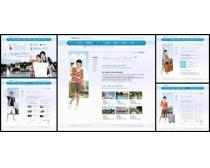 韩国旅游网站设计模板