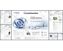 网络时代蓝色系网页模板