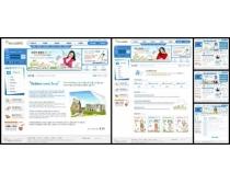 校园老师蓝色系列网页模板