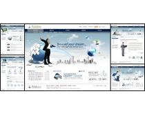 韩国放飞梦想商业网页模板