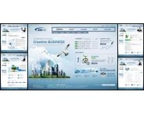 商业文化展示网页模板
